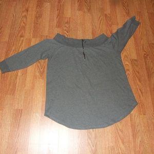 Love & Legend Off Shoulder Sweatshirt Plus Size 3X